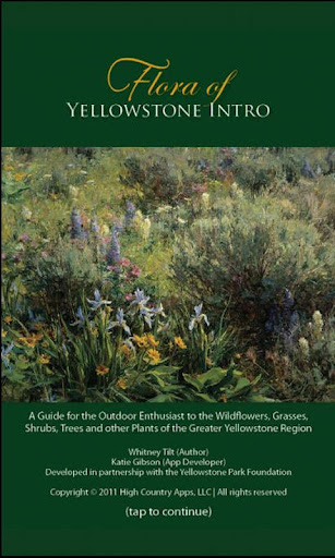 Flora of Yellowstone Intro