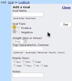 Joe's Goals_Add A Goal