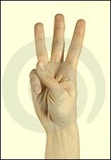 tres dedos