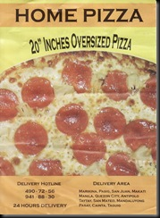 home pizza flyer