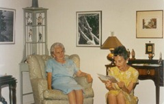 Great-Grammie Ostlund and Aunt Mary