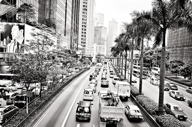 Rush-hour-traffic---bw