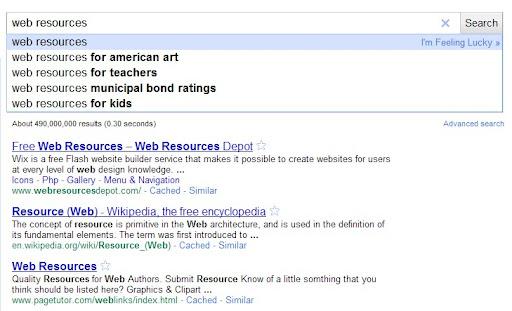 """Búsqueda para los keywords """"web resources"""""""