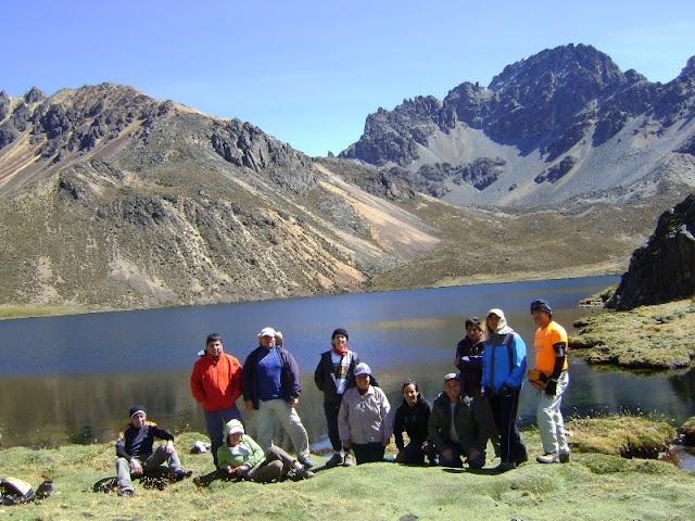 Foto grupal en Quimacocha