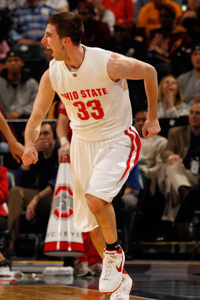 Wearing Brons 8211 Ohio State8217s White  Red LeBron 7 amp Soldier 3