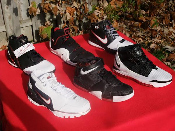 Nike Zoom LeBron Signature Shoes BlackWhiteRed Evolution