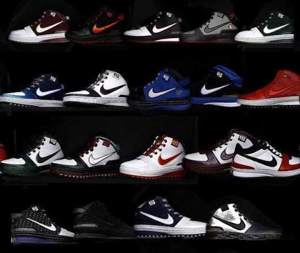 Nike Zoom LeBron VI Promo Colorways Group Photo