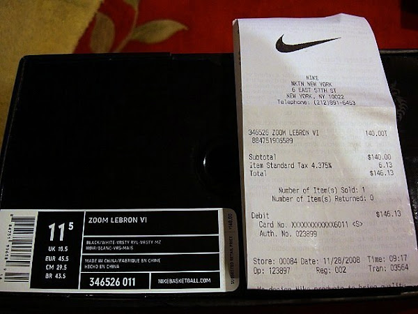Upcoming BlackWhiteRoyalMaize Nike Zoom LeBron VI