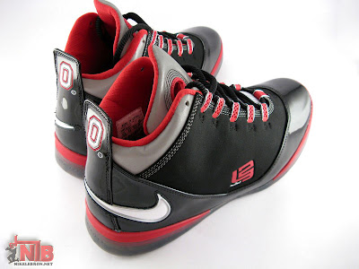 lbj soldier ii pe osu away5 46 Ohio State Buckeyes Nike Zoom Soldier II Away Showcase
