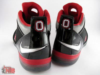 lbj soldier ii pe osu away5 14 Ohio State Buckeyes Nike Zoom Soldier II Away Showcase