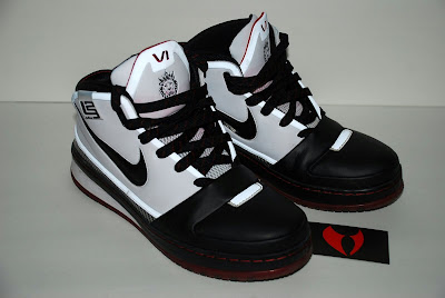 nike zoom lebron 6 ss black white black red 05 A Second Look at the Early Nike Zoom LeBron VI Sample