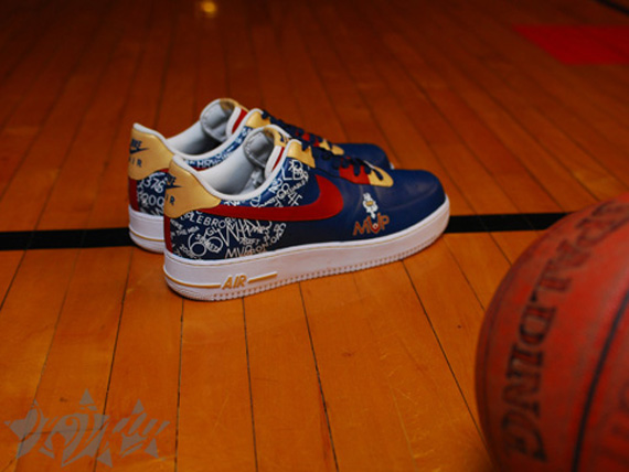 LeBron Presented With Custom 8220MVP8221 Nike Air Force One