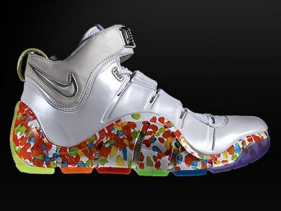 "Nike Zoom LeBron IV ""Fruity Pebbles"" Alternate Player ..."