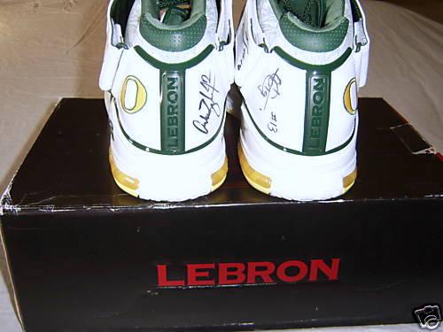 Signed Nike Zoom LeBron II Oregon Home Player Exclusive