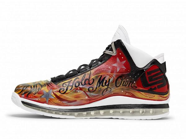 Nike Air Max LeBron VII Artist Series Akron by James Hayden