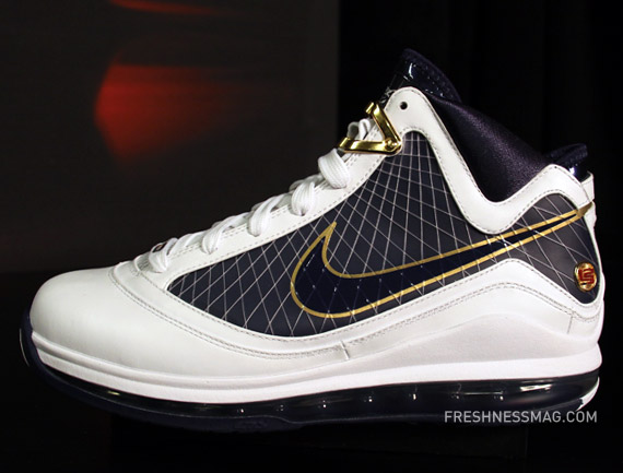Upcoming Nike Air Max LeBron VII 8211 WhiteNavyGoldRed