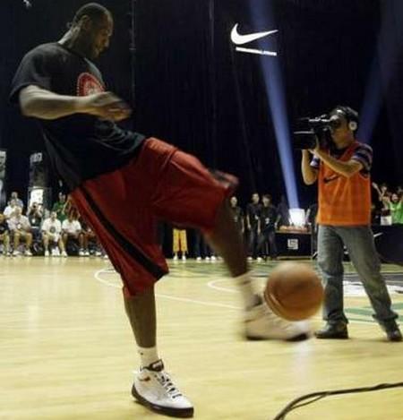 King James Wearing the Nike Zoom LBJ Ambassador II in Beijing