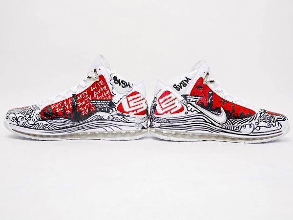 Nike Air Max LeBron VII Artist Series Collab Shanghai by Sic