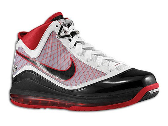 Nike Air Max LeBron VII WhiteBlackVarsity Red Available at PYS