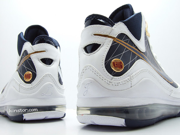 Upcoming White  Navy LeBron VII New Release Date New Version