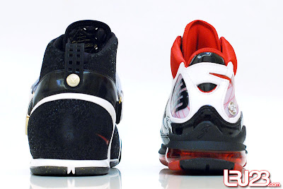 nike air max lebron 7 gr black red white 12 back5 1 2 3 4 5 6 7: Nike LeBron Series Round Up / Comparison