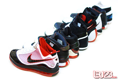 nike air max lebron 7 gr black red white 12 group2 1 2 3 4 5 6 7: Nike LeBron Series Round Up / Comparison