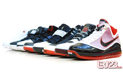 nike air max lebron 7 gr black red white 12 group3 1 2 3 4 5 6 7: Nike LeBron Series Round Up / Comparison