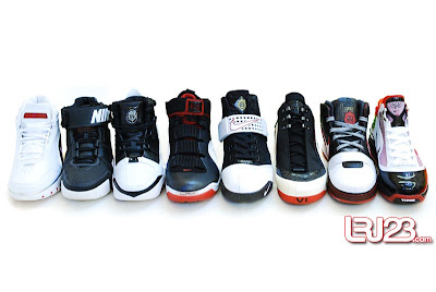 nike air max lebron 7 gr black red white 12 group4 1 2 3 4 5 6 7: Nike LeBron Series Round Up / Comparison