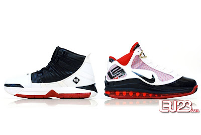 nike air max lebron 7 gr black red white 12 inside3 1 2 3 4 5 6 7: Nike LeBron Series Round Up / Comparison