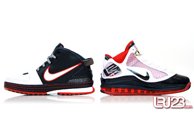 nike air max lebron 7 gr black red white 12 inside7 1 2 3 4 5 6 7: Nike LeBron Series Round Up / Comparison