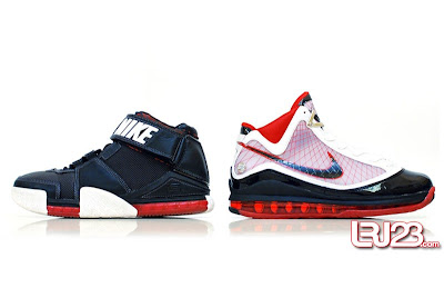 nike air max lebron 7 gr black red white 12 side2 1 2 3 4 5 6 7: Nike LeBron Series Round Up / Comparison