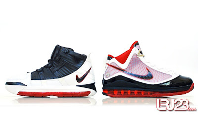 nike air max lebron 7 gr black red white 12 side3 1 2 3 4 5 6 7: Nike LeBron Series Round Up / Comparison