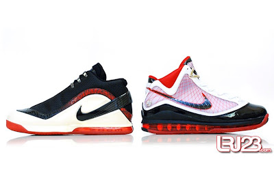 nike air max lebron 7 gr black red white 12 side6 1 2 3 4 5 6 7: Nike LeBron Series Round Up / Comparison