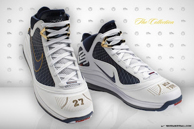 nike air max lebron 7 pe white navy nyc 1 01 Nike Air Max LeBron VII New York Yankees Promo Colorway