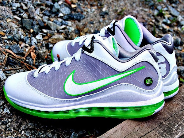 Releasing Now Air Max LeBron VII Low WhiteGreyMean Green