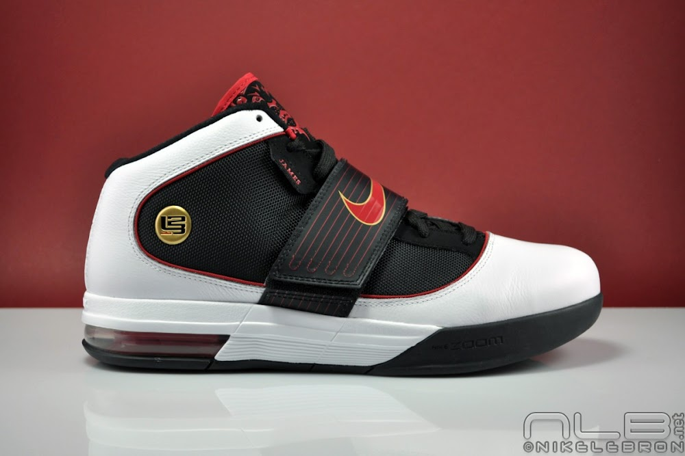 Nike LeBron 4 Black White Red Sneakers (Black/White- Red)