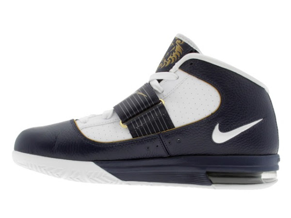 LeBron8217s Nike Zoom Soldier IV WhiteNavyGold Detailed Look