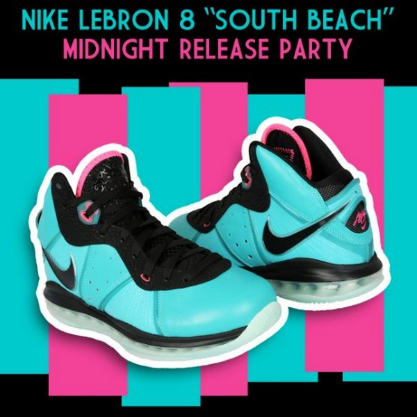 Event Nike LeBron 8 8220South Beach8221 Release Party  Footaction