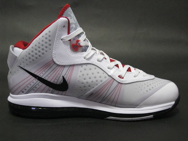 Upcoming Nike Air Max LeBron 8 V2 WhiteGrey Detailed Images