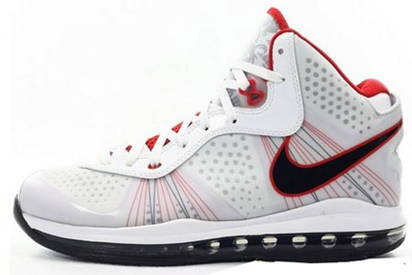 black and red lebron 8