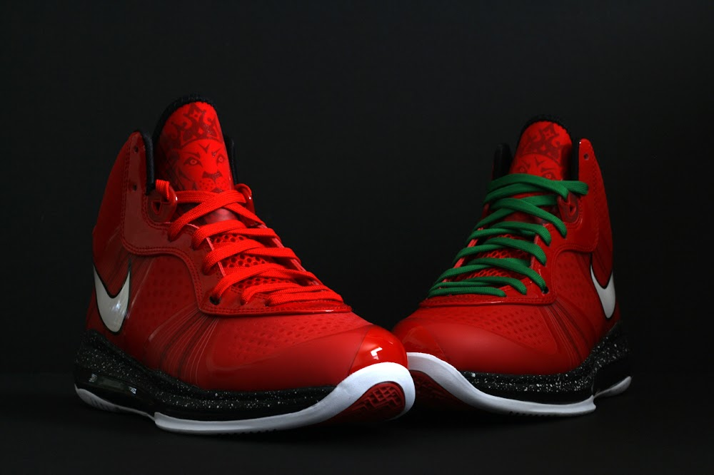 lebron 8 christmas. fresh look at nike lebron v2 christmas exclusive with red laces lebron 8