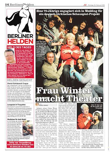 """Jürgen Köhler als """"Held des Tages"""" am 01.03.2010 in der BZ"""