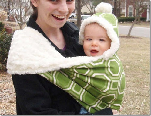 The-Fox-Hole-a-Hooded-Winter-Baby-Sling