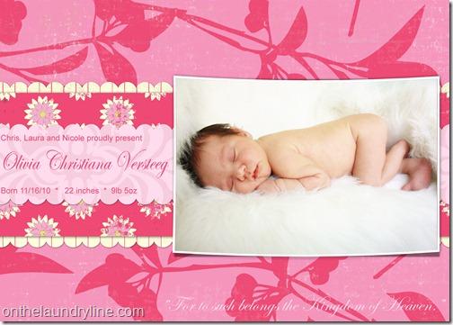 OLIVIA BIRTH ANNOUNCEMENT 1