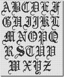 abecedarios varios tipos de letras en punto de cruz anuncios google