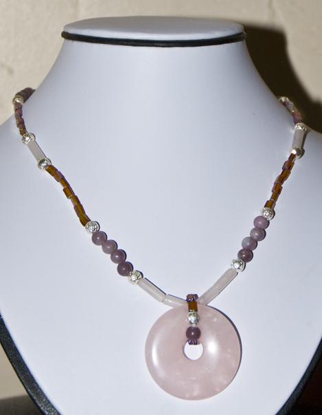 DSC_0001 rose quartz pendant and tubes jasper lilac stone and lavender beads by eileen nauman en az copy.jpg