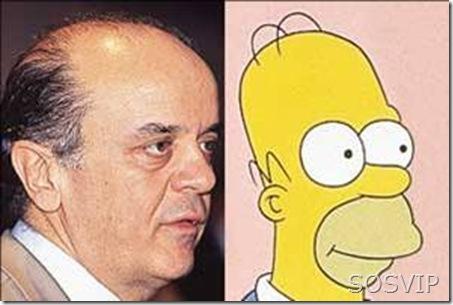 José Serra x Homer Simpson
