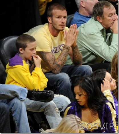 David Beckham & Brooklyn