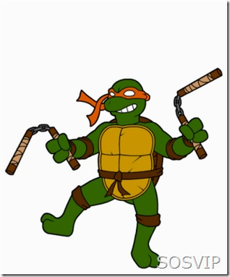 Michelangelo - Tartarugas Ninjas