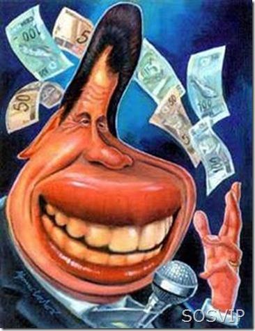 Caricatura Silvio Santos